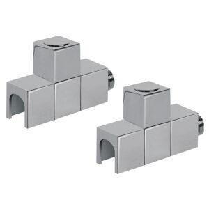 Cube manual straight radiator valves