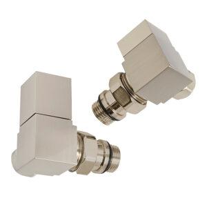 Cubic corner manual radiator valves