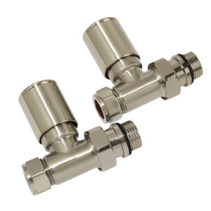 Cylindrical straight angle radiator valves