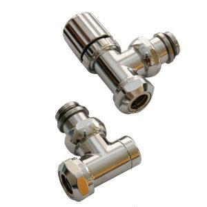 Angle radiator valves