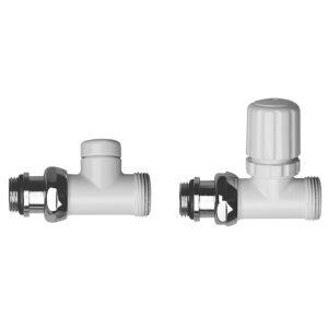 Straight radiator valves