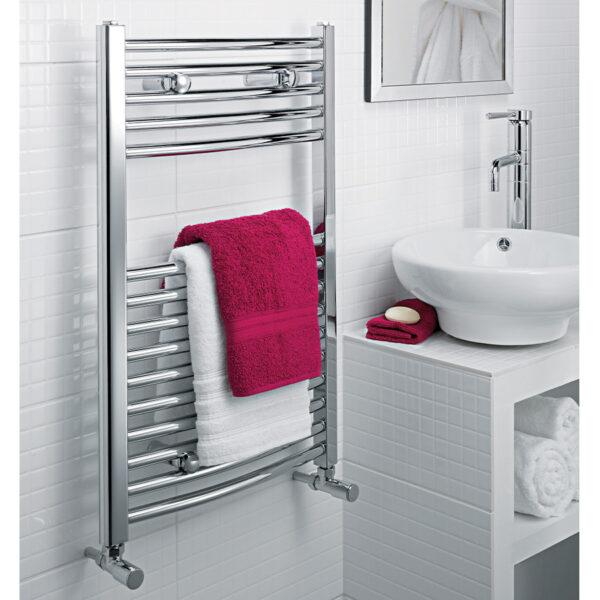 Modern bathroom towel rail