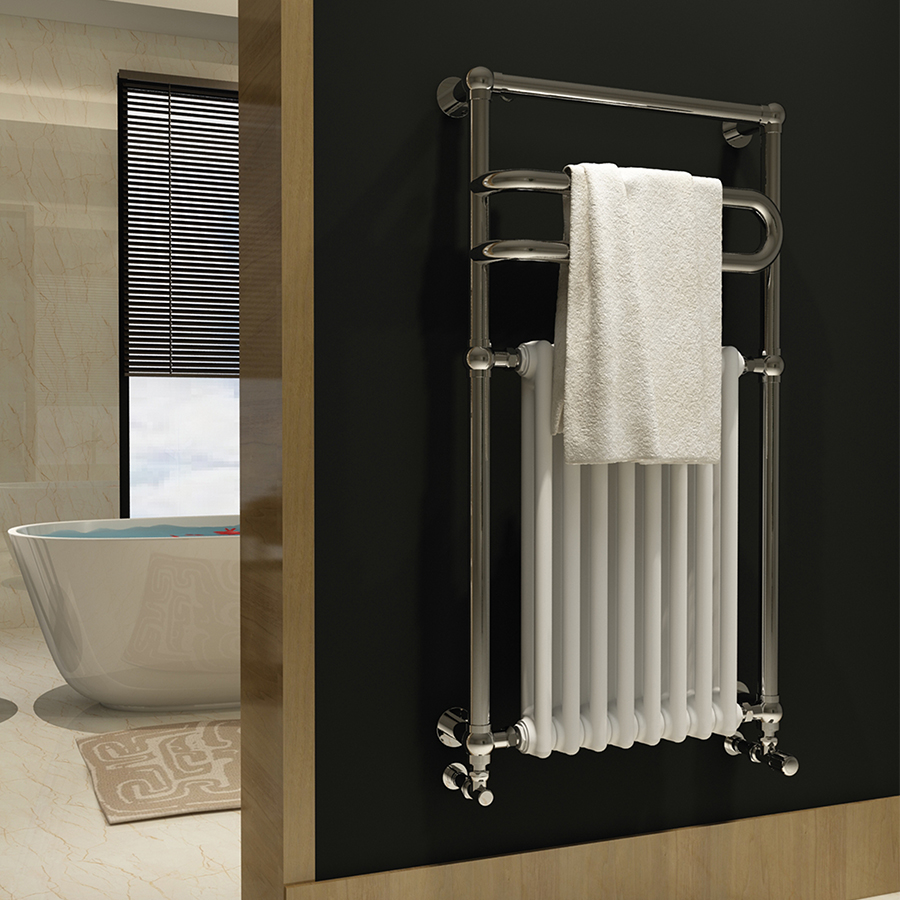 Traditional bathroom towel rail for home