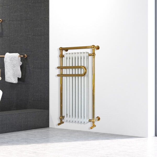 Traditional bathroom towel rail for home