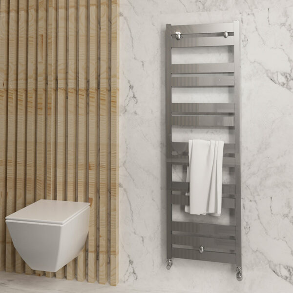 Modern aluminium bathroom towel rail