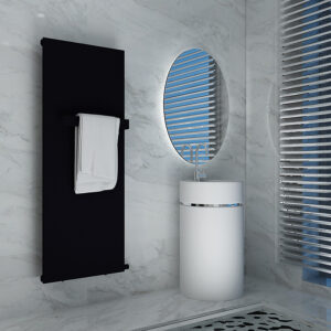 Modern bathroom towel rail bar