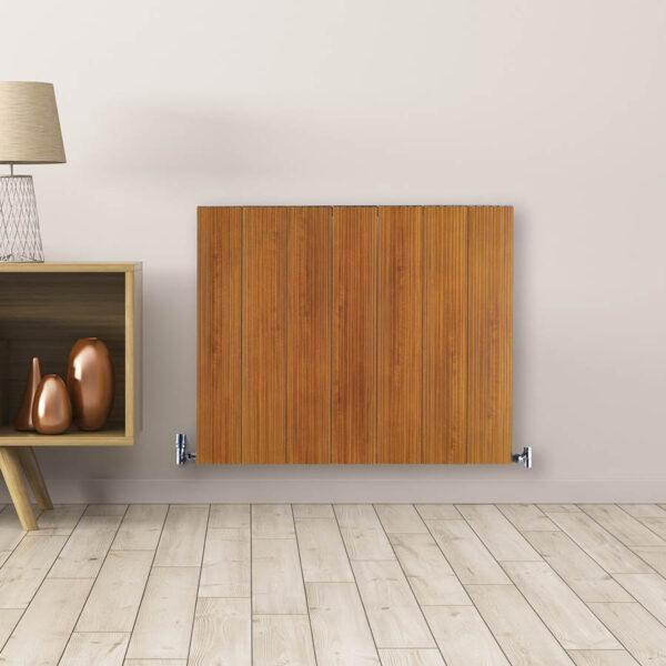 Aluminium radiator for living room hallway