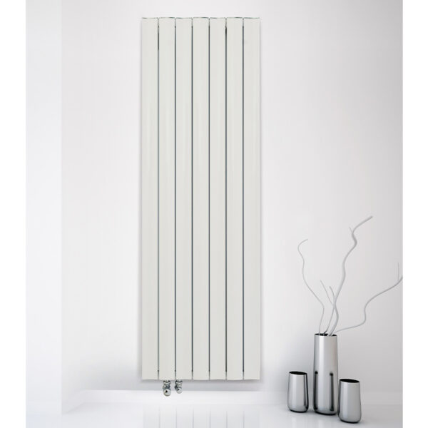 Tall vertical radiator for living room or kitchen