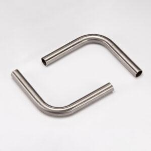 100+100mm 15mm In Diameter Elbow SS Tube – Brushed Matt