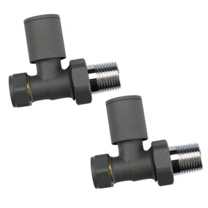 Cylindrical straight manual radiator valves