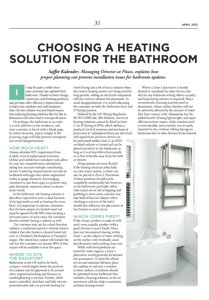 Choosing a heating solution | HVP Magazine April 20